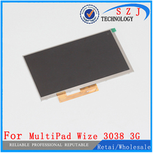 New 7» inch LCD Display Matrix Prestigio MultiPad Wize 3038 3G TABLET TFT LCD Screen Panel Lens Frame replacement Free Shipping