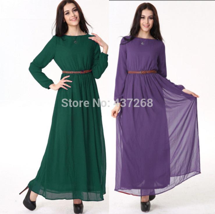 Muslim Dresses Vestidos Arab Women Clothing Hijabs Islamic Dresses for Women Long Abaya Muslim Clothing(China (Mainland))