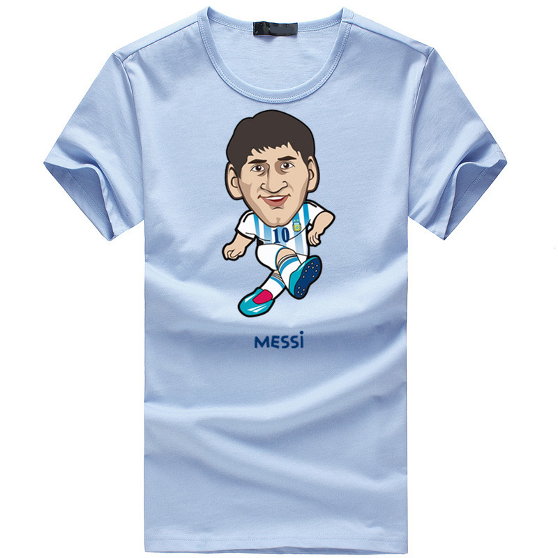 2016 Summer Brand Lionel <font><b>Messi</b></font> #<font><b>10</b></font> Soccer Star Cartoon Icon Men <font><b>t</b></font>-<font><b>shirt</b></font> tops Man casual sport short sleeve <font><b>football</b></font> <font><b>t</b></font> <font><b>shirts</b></font>