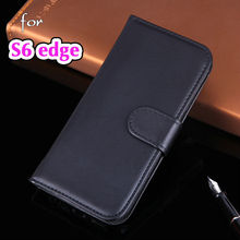 Shell Wallet Holster Flip Cover With Stand Card Holder Phone Bag Pouch PU Leather Case For Samsung Galaxy S6 Edge G925 G925F