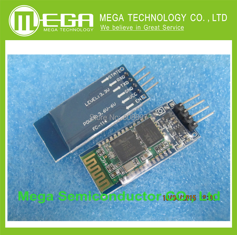 Free shipping 1pcs HC-06 HC06 JY-MCU BT BOARD V1.05 4pin Bluetooth serial pass-through wireless serial communication module(China (Mainland))
