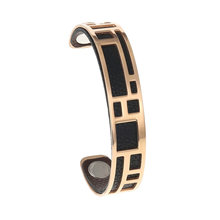 Yoiumit Labyrinth Bangles For Women Rose Gold Stainless Steel Bracelets Bijoux Femme Manchette Reversible Cuff Leather Pulseiras(China)