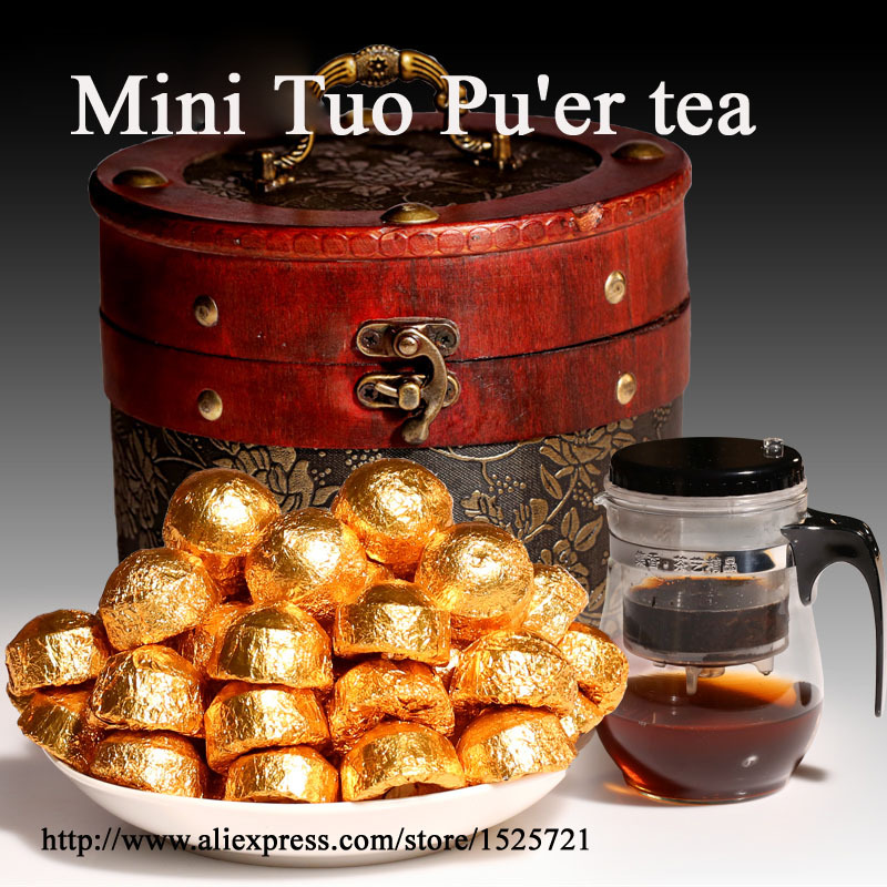 2005 benefits Billiard Mini Tuo Pu er black tea cooked Ripe puer tea 500g Maijiu cup