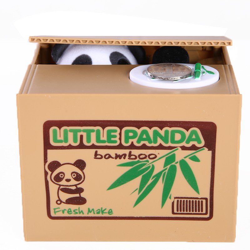 Mischief Panda toy box Practical Jokes Panda steal money toy electronic panda mischief collect box Electronic Toys LYJ42(China (Mainland))