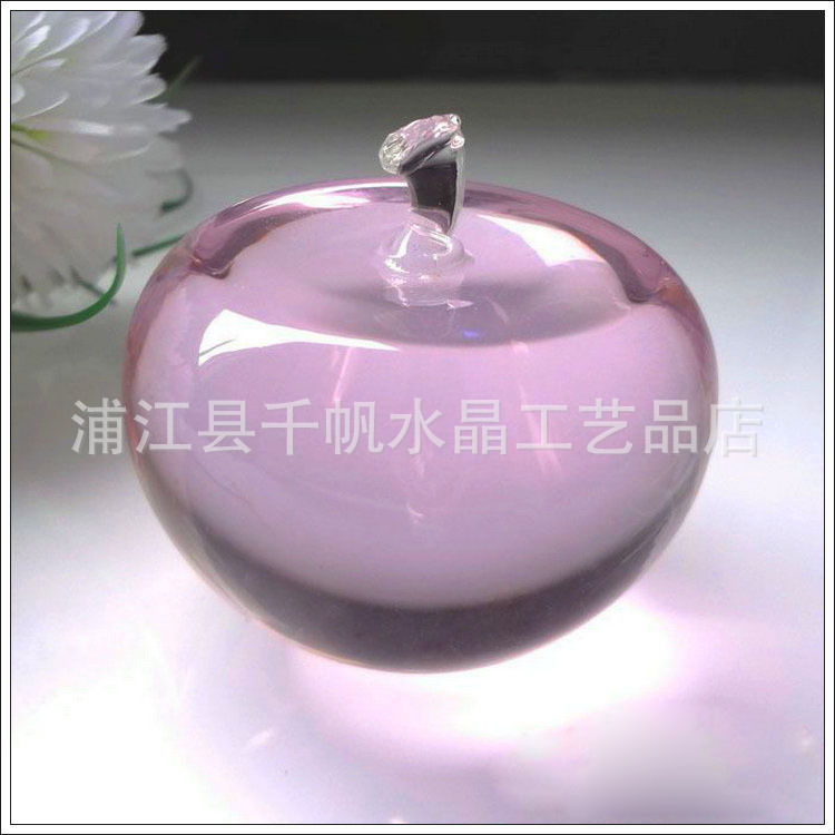 [Quality] circular crystal apple / New Year gift / peace and blessings / Eve / birthday gift apple(China (Mainland))