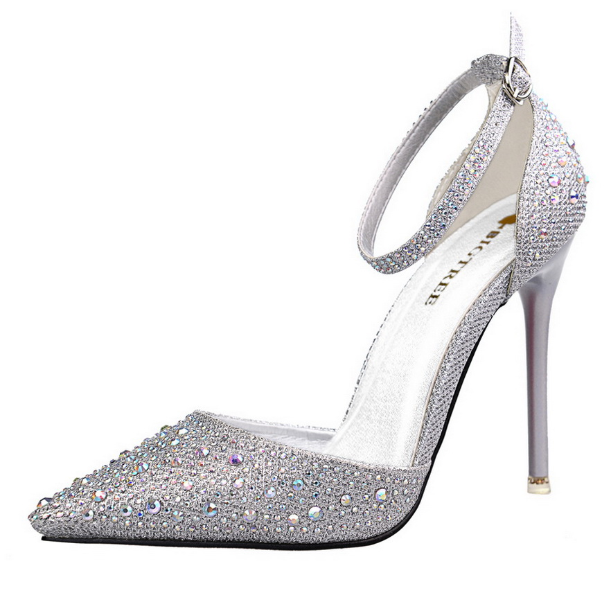Woman Shoes Rhinestones Fashion Sexy Cutout Red Bottom High Heels Sandals Women Pumps Platform Pointed Toe Shoe Zapatos Mujer(China (Mainland))