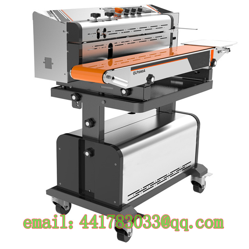 1080A continuous vacuum suction sealing machine Continuous suction vacuum sealer Food exhaust sealing machine(China (Mainland))