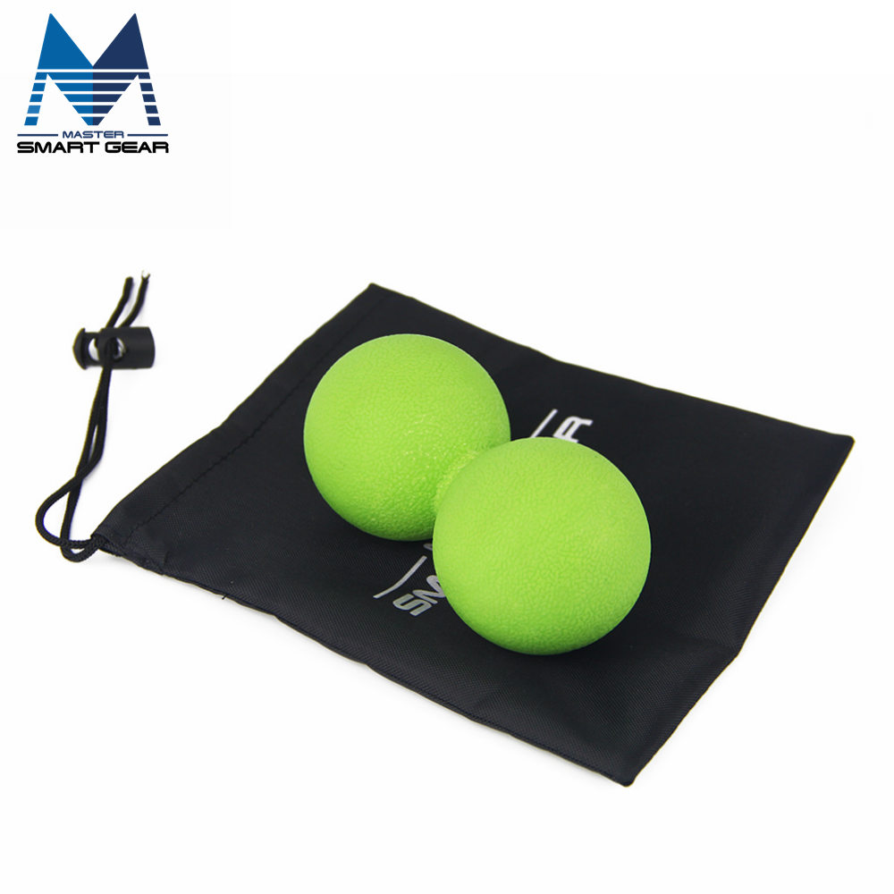 13*6CM TPR Peanut Massage Ball Hockey 100% Rubber Lacrosse Ball Relieve Pain Tension Relax Muscles Therapy(China (Mainland))