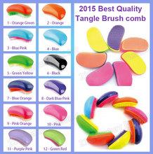 2015 ABS magic hair brushes TT hairbrush professional tangle brush hair combs wholesale in stock Free Shipping(China (Mainland))