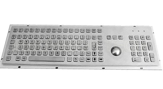 Upscale aluminum alloy Industrial keyboard 104KEYS used in Bank, Funds service equipment(China (Mainland))