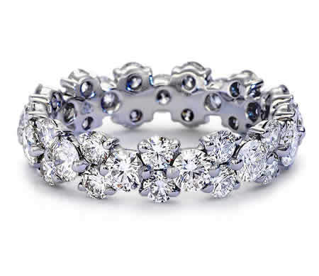 Engagement Rings Garland Diamond Eternity Ring 925 Sterling Silver Synthetic Diamond Ring Jewelry 925 Sterling Silver For Women(China (Mainland))