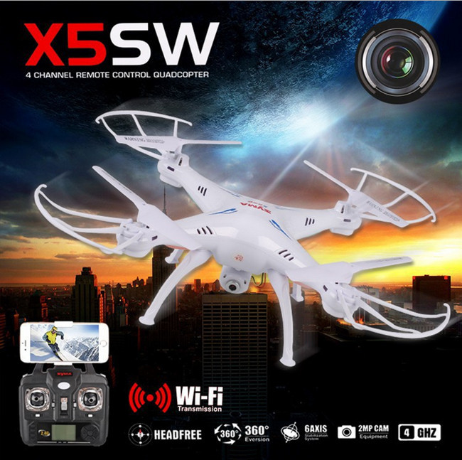 Free shipping SYMA X5SW WIFI RC Drone fpv Quadcopter with HD Camera 2.4G 6-Axis Real Time RC Helicopter Quad copter Toys(China (Mainland))