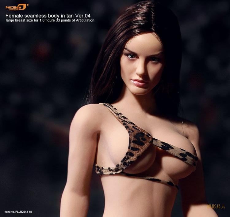 Sexy 1/6 Phicen Doll PLMB2013-18 Female Seamless Body in Tan Large breast Size Ver.04 Collectible Doll Toys Gift