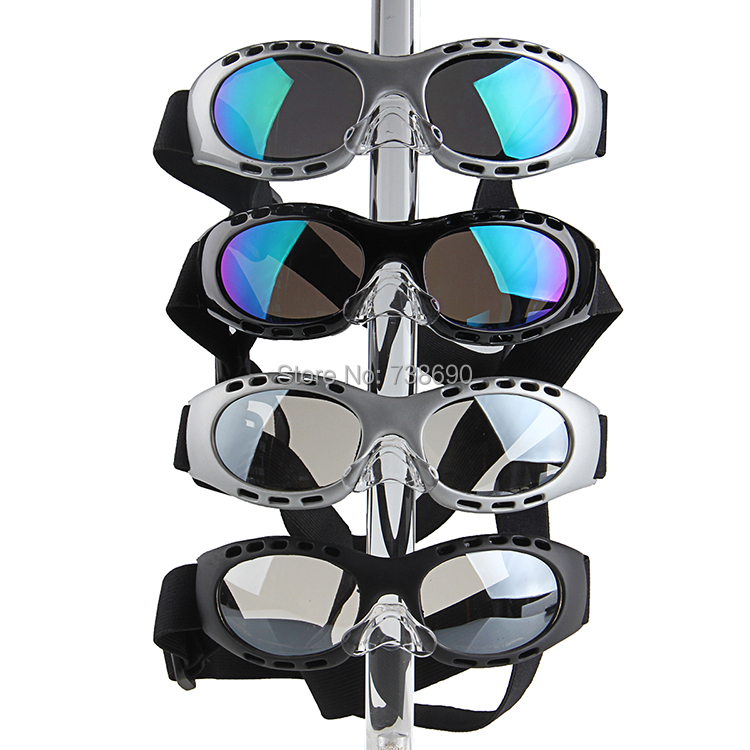 2014 High Quality Sports Goggles Glasses Silver Bright Frame Colorful Lens Motorcycle Motorcross Plastic UV Protection Outdoor(China (Mainland))