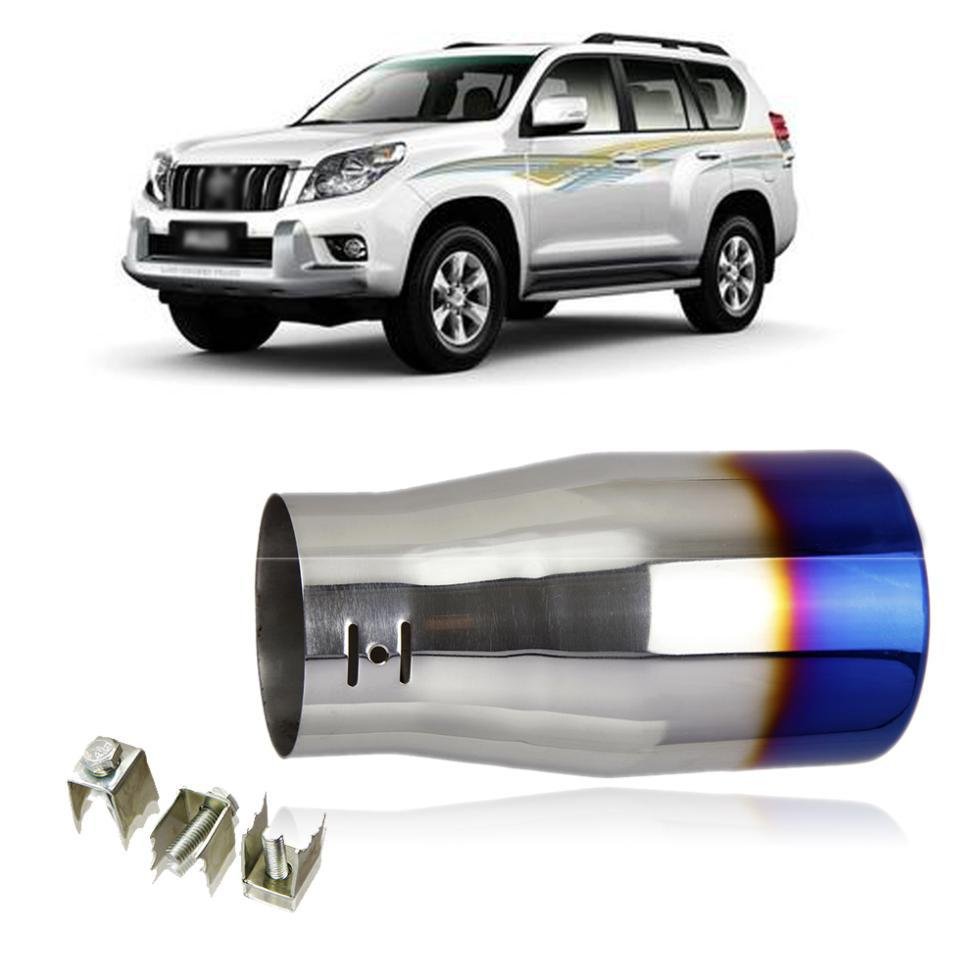 Free shipping Car styling CHROME STAINLESS STEEL EXHAUST TAIL MUFFLER TIP END PIPES Toyota Prado 1pc per set(China (Mainland))