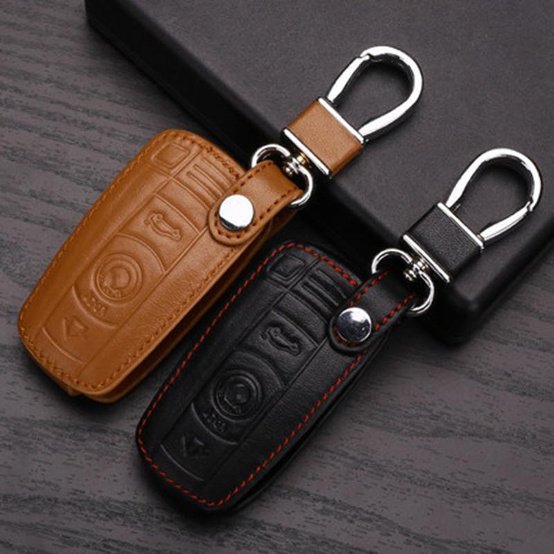Genuine Leather Car Key Wallet Bag Case Cover For Bmw X1 X3 X5 X6 320 525 Leather Car Key Holder For Bmw Leather Car Key Case<br><br>Aliexpress