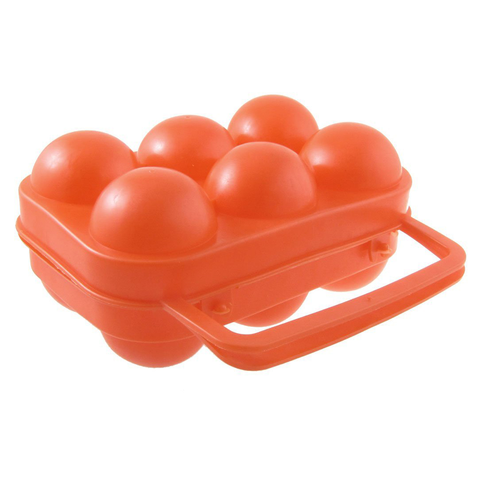 2015 Best Outdoor Camping Orange Red Folding Plastic Egg Tray Box Case(China (Mainland))