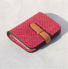 Free Shipping Women's Snake Leather Money Clips Fashion Credit Card Case(China (Mainland))