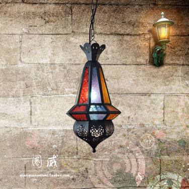 Morocco old iron retro chandelier lamps lamp bedroom minimalist modern restaurant bar room lighting(China (Mainland))