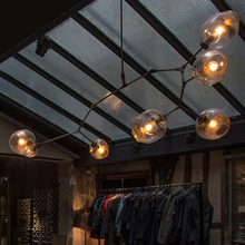 Vintage Loft Industrial Pendant Lights Black Gold Bar Stair Dining Room Glass Shade Retro Lindsey adelman Pendant Lamp Fixtures(China (Mainland))