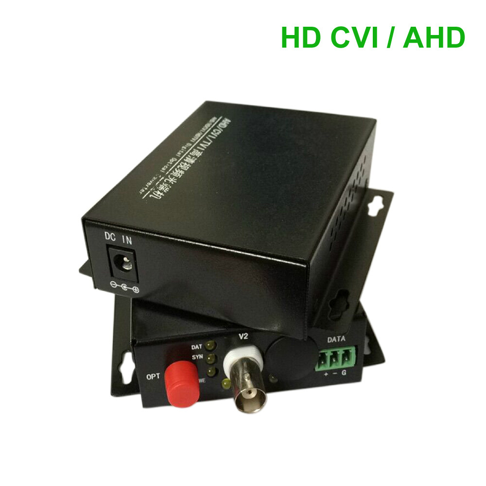 HD CVI 1 Channel Video data optical Media Converter Transmitter Receiver -1Pair for 720P 960P AHD CVI HD cameras CCTV(China (Mainland))