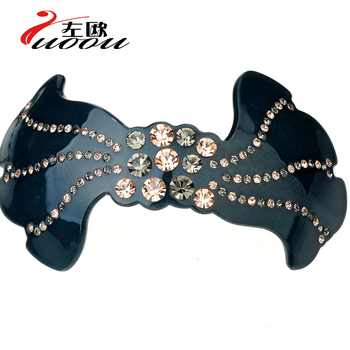 Hair accessory butterfly luxury rhinestone clip hairpin spring clip folder hair pin hair accessory