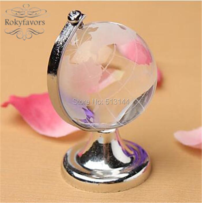 DHL FREE SHIPPING 50PCS Bridesmaid Gifts Choice Crystal World Globe Birthday Ideas Earth Desktop Globe Favors(China (Mainland))