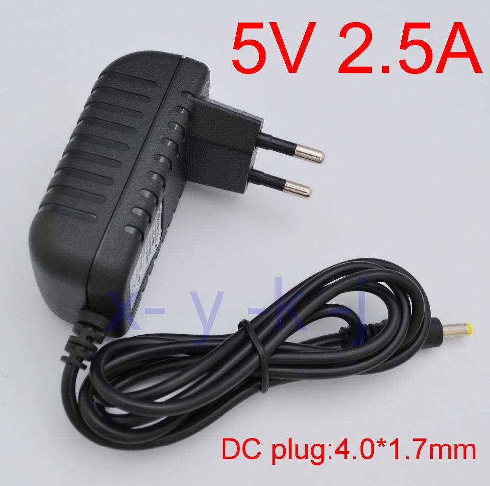 1PCS High quality DC 5V 2.5A IC program AC 100V-240V Converter Switching power adapter 2500mA Supply EU Plug DC 4.0mm x 1.7mm