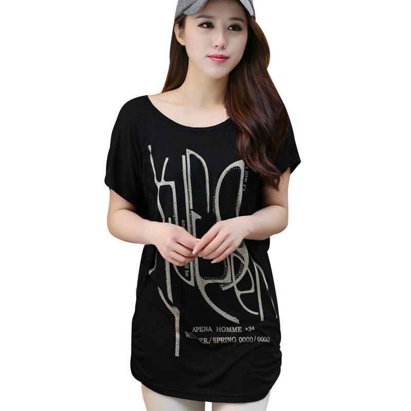 Loose Style Women Summer Casual T-shirt Black / White / Red Plus Size L-4XL O-neck Design Female Short Sleeve Tops(China (Mainland))
