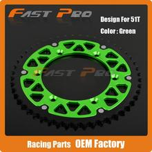 Buy 51T CNC Rear Chain Sprocket KX125 KX250 Motocross Supermoto Enduro Racing MX SM Dirt Bike Road Motorcycle for $51.29 in AliExpress store