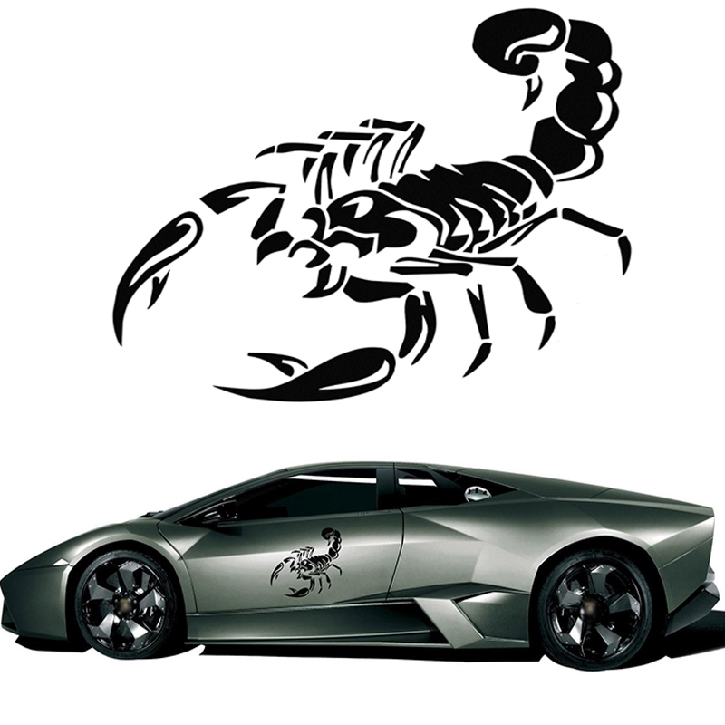 3D Cute Scorpion Motorcycle Car Stickers and Decals Car Styling Stickers Funny Car Stickers For BMW VW Audi Ford Toyota Stickers(China (Mainland))