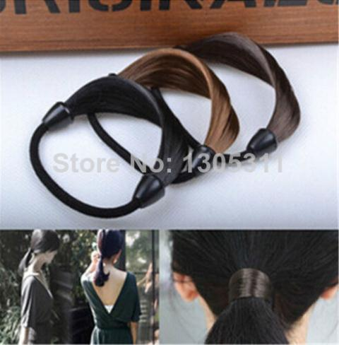 New Korean Style Wig Rope Hair Band Accessories Elastic Hair Bands Braid hairpeice Ponytail /Holers Hairband(China (Mainland))