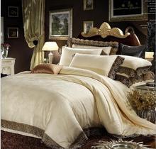 king size silk lace bedspreads bedding set silk duvet cover queen silk blanket set 220*240(China (Mainland))
