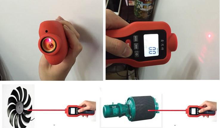 Купить Бесплатная доставка, контакт/бесконтактный HT522 тахометр Ручной Цифровой Лазерный Тахометр Диапазон 1-99999 ОБ./МИН. LCD лазерный Тахометр