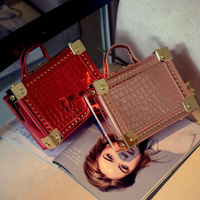 2016 новый дизайн простой повседневная мода золотой пряжкой камень шаблон мини окно мешок лоскут сумка сумка дамы кошелек