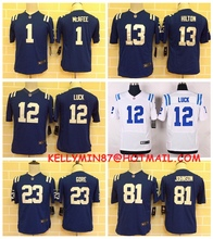 100% Stitiched,Indianapolis Colt,Andrew Luck,Reggie Wayne,for youth,kids(China (Mainland))