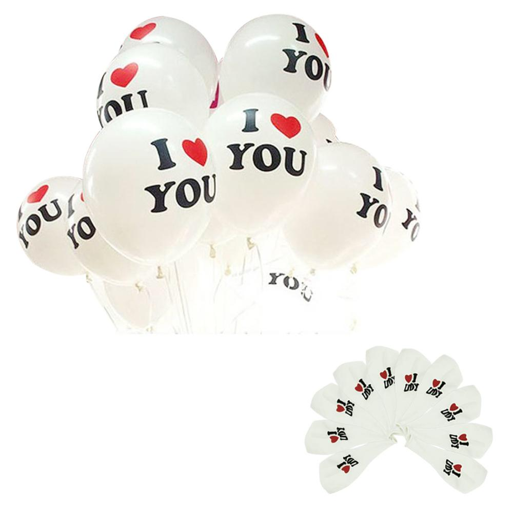 Essential Good Quality 10pcs/lot Romantic 12 inch Pearl Latex Balloon I LOVE YOU Balloons Christmas Wedding Decorations 623 50%(China (Mainland))