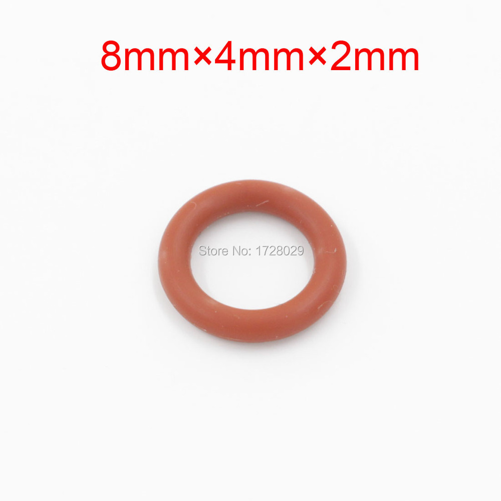 best price red silicone o ring seal sealing washer 8mm x 4mm x 2mm in gaskets from industry. Black Bedroom Furniture Sets. Home Design Ideas