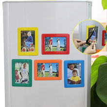 5Pcs Magnetic Multicolor Photos Frames 4 x 6inches Rectangle Pictures Holder for Refrigerator Decoration Accessories DIY Gift(China (Mainland))
