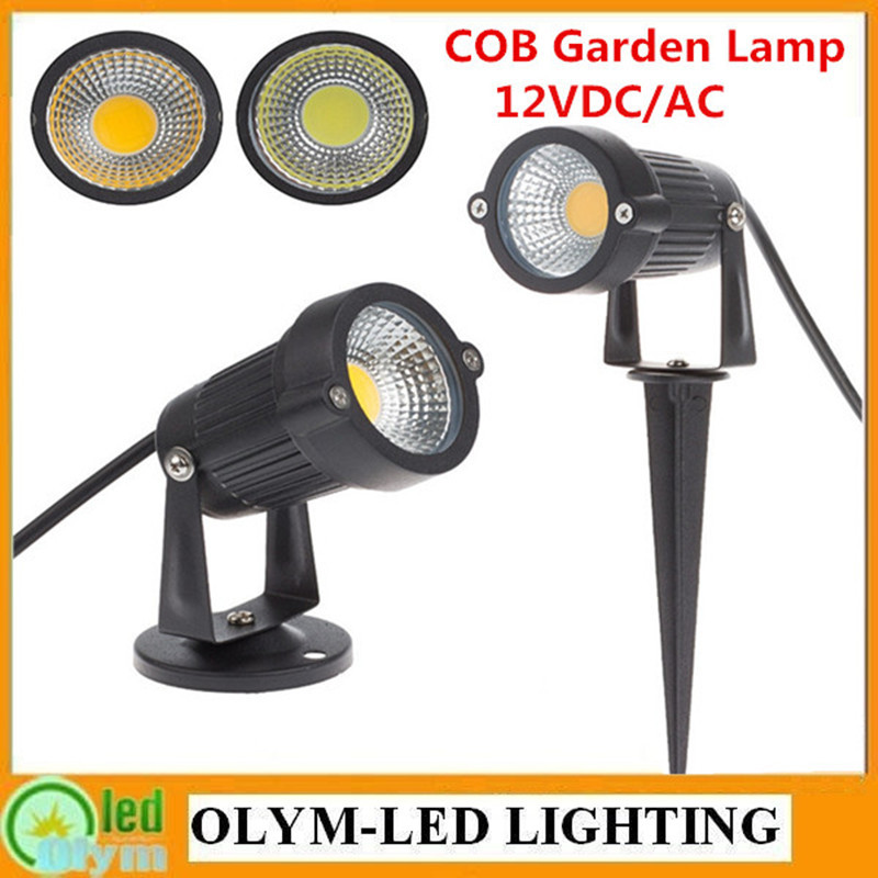 20X New Style Outdoor IP65 Garden Spike LED Light 12V 5W COB LED Lawn Lamp Pond Path flood Spot Lights Free Shipping(China (Mainland))