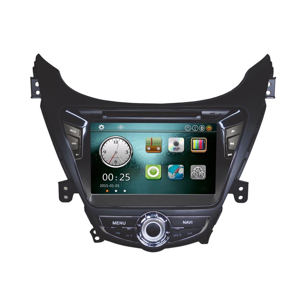 "8"" Car DVD Player GPS Navigation in Dash Car Radio Double 2 Din Car PC Stereo Head Unit for Hyundai Elantra 2011 2012 2013(China (Mainland))"