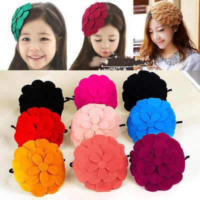Girls' 100% polyester fur felt headband fascinator cocktail hats # HWG15005(China (Mainland))