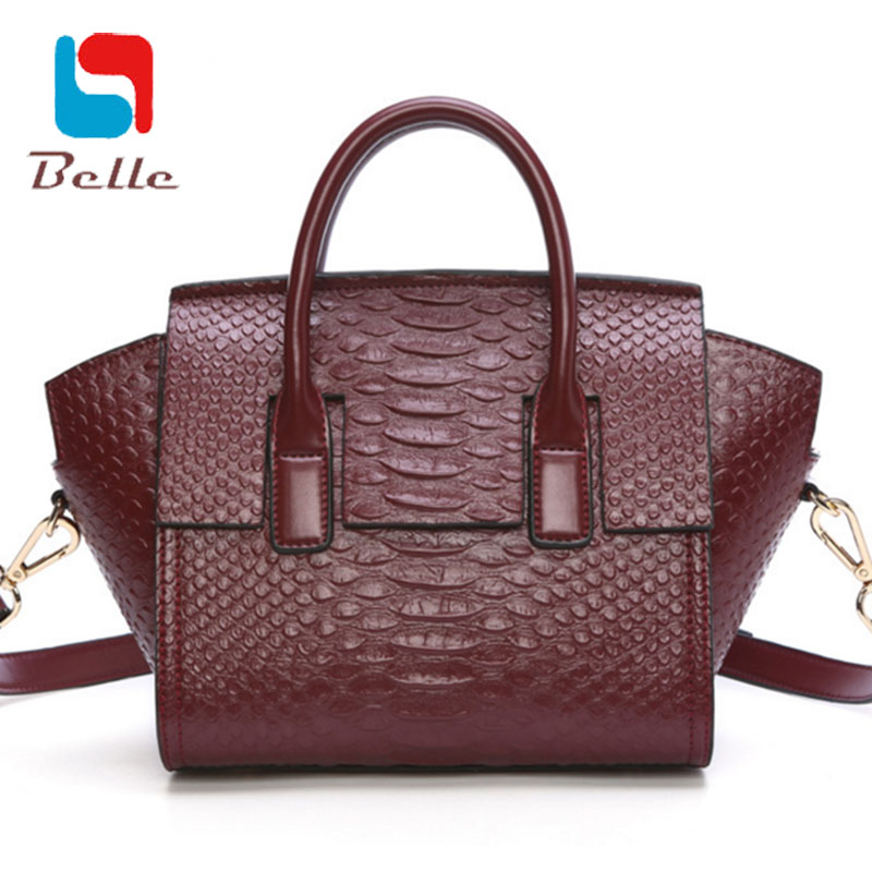Designer handbags high quality 2016 casual genuine leather women messenger bags Crocodile shoulder bags famous brands Wings bag(China (Mainland))