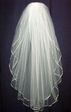 New 2T White Or Ivory Bride Bridesmaid Wedding Dress Accessories Veil +Comb(China (Mainland))