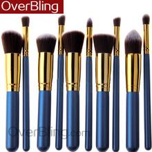 Hot 10 Pcs Makeup Brushes Set Make Up Wood Tools Cosmetics Brush Makeup Brushes Professional Make Up Brand Brush Set
