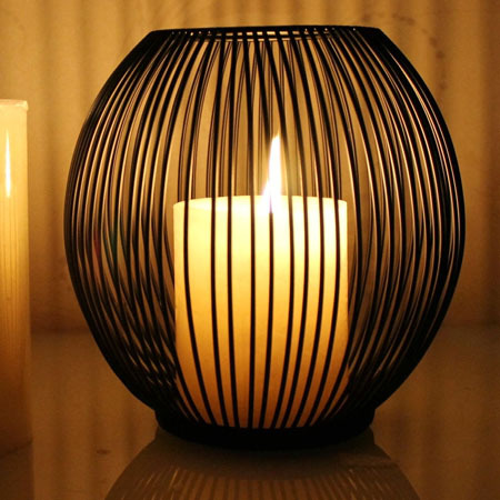 Free shipping European modern minimalist candlestick lantern type applicable 7cm diameter candle