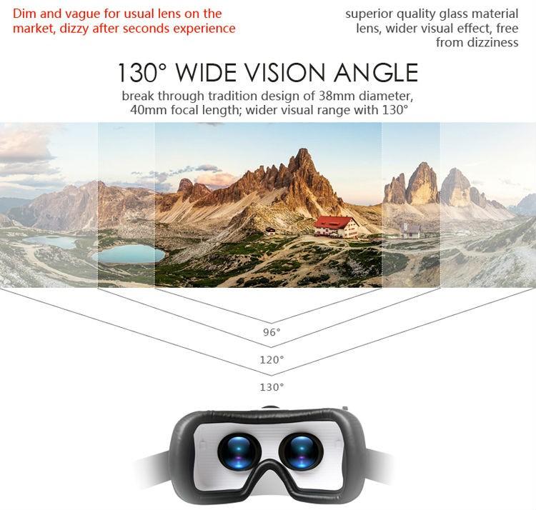 ถูก พิเศษที่ชัดเจนVRกรณี6th all-in-1ความจริงเสมือนแว่นตา3D VRกล่องVRกรณี6ที่มีบลูทูธควบคุมระยะไกลสำหรับiOS Android