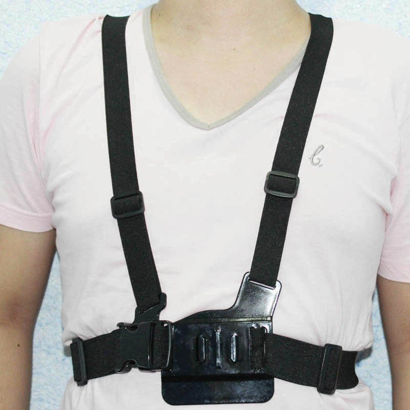 image for GoPro Accessories Harness Adjustable Elastic Shoulder Chest Strap For