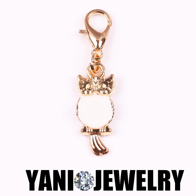 YANI JEWELRY 20pcs/lot Fashion Owl Pendants Floating Pendant Charm with Lobster Clasp Free shipping(China (Mainland))