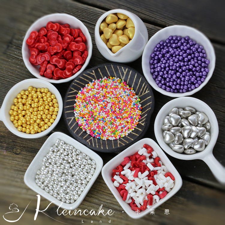 Dried Fruit Cake Decoration : Cake tool sugar silver gold cake decorating tool 100g ...